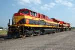 KCS 4037 - 4034, EMD SD70ACe, grain train power at the BNSF yard